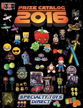 Fun Services & Specialty Toys Direct Present the 2016 Prize Catalog