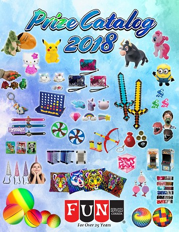 Fun Services & Specialty Toys Direct Present the 2018 Prize Catalog